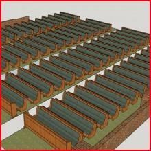 목재장의자-A42