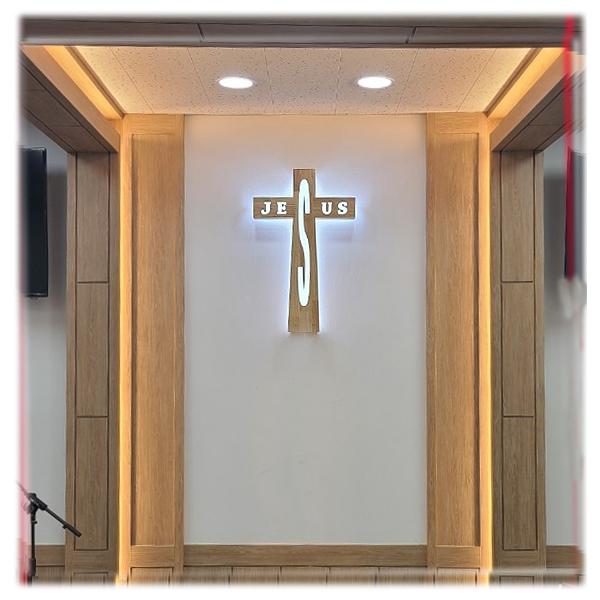 JESUS 조명십자가(100cm)