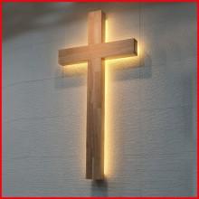 사각 조명십자가 -1200